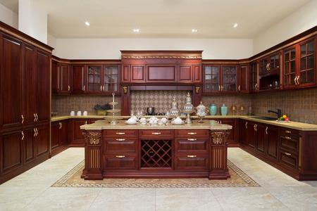 Modern kitchen interior ed arredi Archivio Fotografico - 40739001