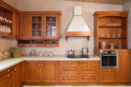 Modern kitchen interior ed arredi Archivio Fotografico - 40739003