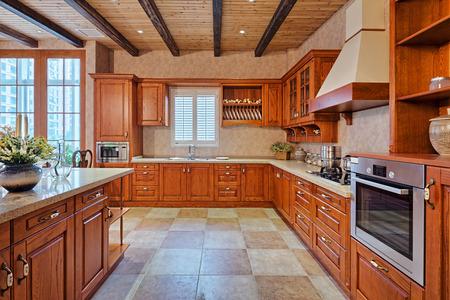 Modern kitchen interior ed arredi Archivio Fotografico - 40739029