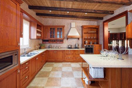 mostradores: Interior de la cocina moderna y muebles