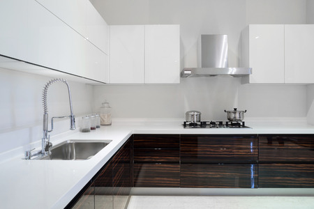 kitchen cupboard: Modern kitchen interior and furnitures