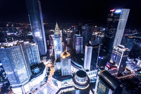 illuminated: illuminated skyscrapers in chongqing