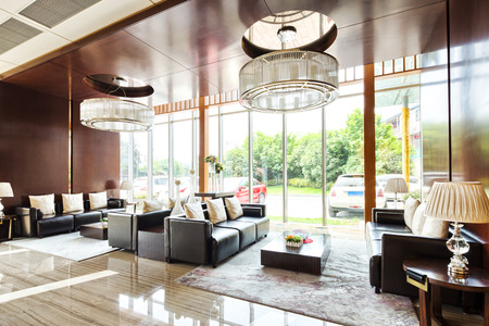 entrances: luxury hotel lobby and funiture Editorial