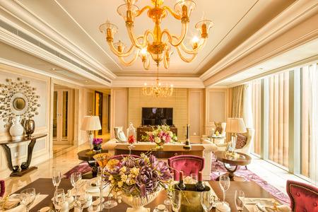 Luxe Salon Et Le Mobilier Avec Un Design Et Une Décoration Haut De Gamme