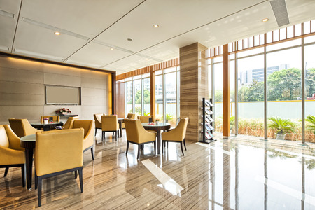 luxury hotel lobby and funiture Editoriali
