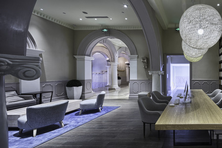 luxury lobby in modern hotel Editorial