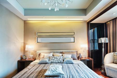 luxury bedroom: hotel bedroom interior