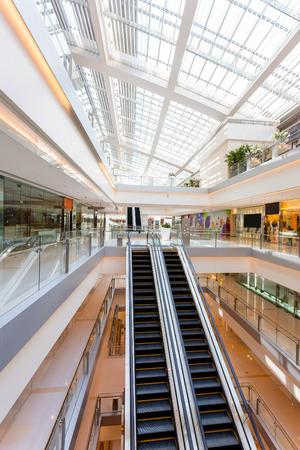 Escalator in modern shopping mall Editorial