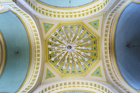 ceiling: Ceiling of church interior