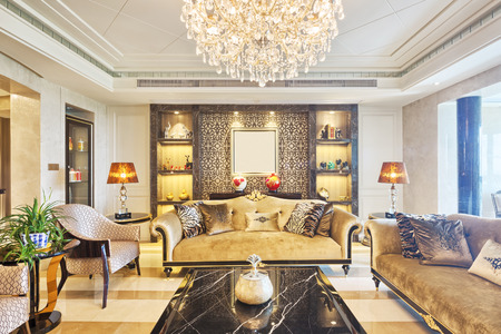 luxury room: luxury living room interior