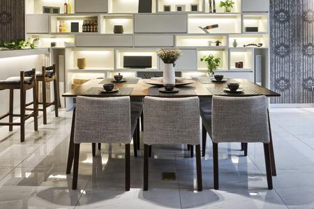 고급 식사 실내 인테리어 에디토리얼