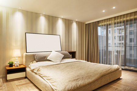 luxury bed: luxury bed room interior and decoration