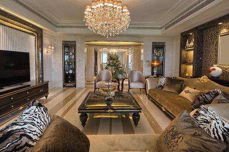 Luxus Wohnzimmer Innenraum Standard-Bild - 41952355