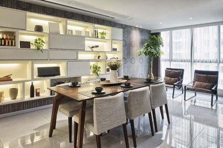 home furniture: luxury dinning room interior