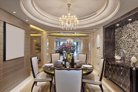 dinning room: luxury dinning room interior