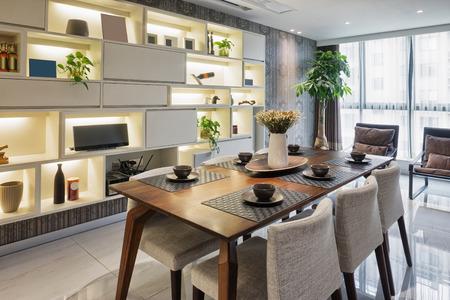 luxusním jídelna interiér