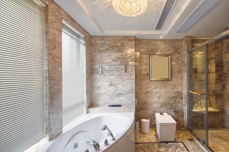 piastrelle bagno: bagno di lusso e decorazione d'interni Editoriali