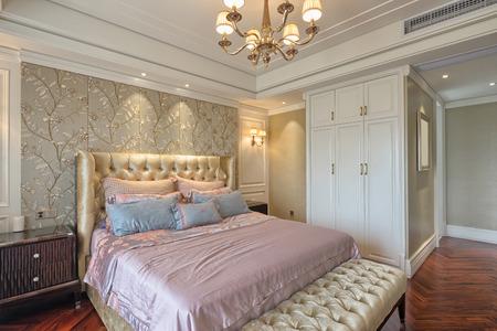 wall decor: luxury bedroom interior and decoration
