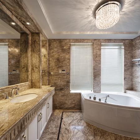 bathroom wall: luxury bathroom interior and decoration Editorial