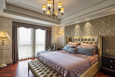 chambre Ã?  coucher: intérieur chambre de luxe et de la décoration