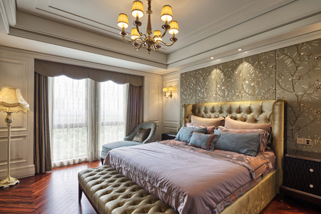 contemporary interior: luxury bedroom interior and decoration