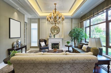 luxe woonkamer interieur