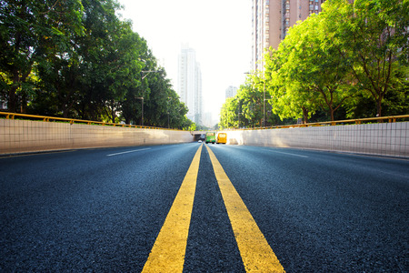 urban road in modern city