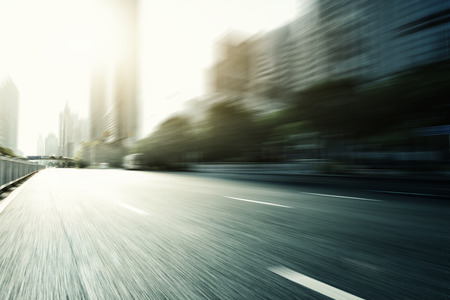 urban road: Blurred urban road in modern city Stock Photo