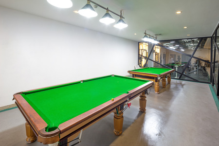 billiards room: decoration of modern billiard room