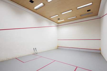 exercise room: decoration of squash court