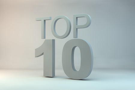 10: top 10 on background
