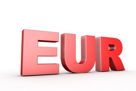 eur: 3d illustration sign eur
