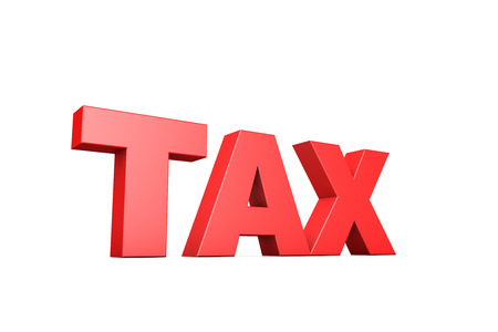 paying: 3d illustration word tax