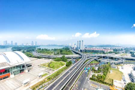junction: road junction in suzhou in fine day