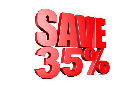 3d illustration save 35%