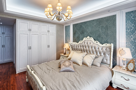 comfortable: modern bedroom with comfortable bed