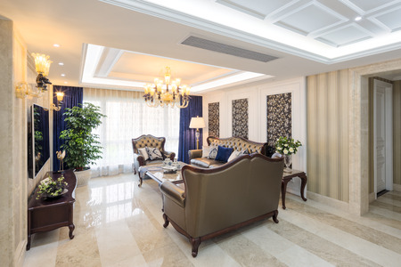 living apartment: decoration and design of modern living room Editorial
