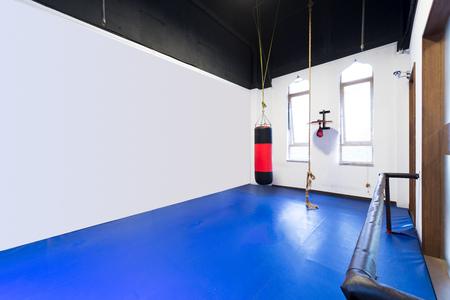 interior room: interior of room with sandbag