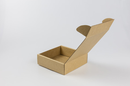 yellow paper box on white background