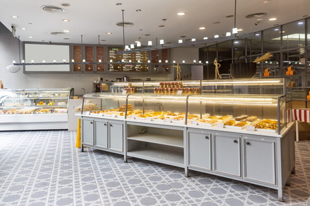 interior of modern bakery Editorial