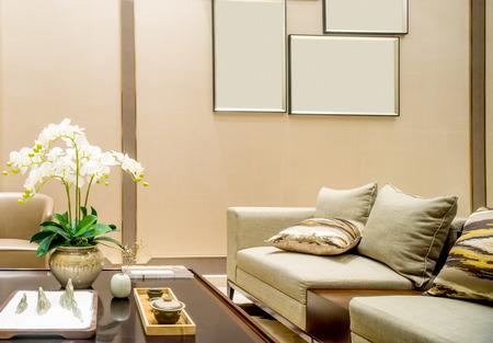 modern living: interior of modern living room