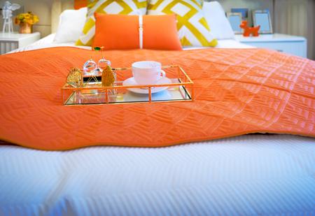 modern bedroom: interior of modern bedroom Editorial