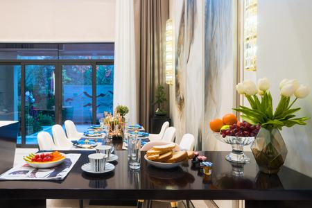 interior room: interior of modern dining room Editorial