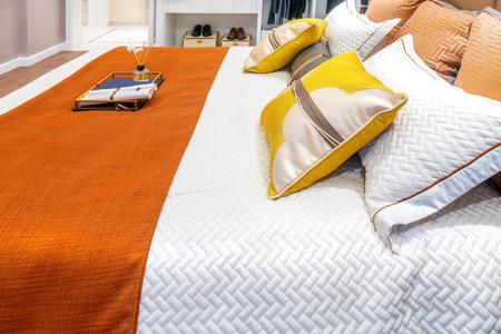 modern bedroom: interior of modern bedroom Stock Photo