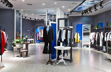 fashion shop in modoern shopping mall