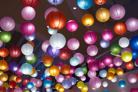 eletrical: eletrical lantern in modern shopping mall Stock Photo