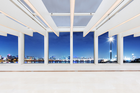 glass ceiling: empty office with glass ceiling interior