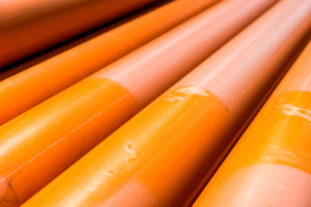 plastic pipe: stack of plastic pipes