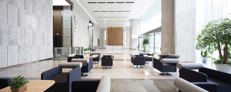 interior of modern entrance hall in modern office building Foto de archivo