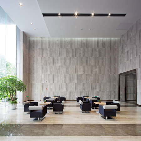 interior of modern entrance hall in modern office building Stockfoto